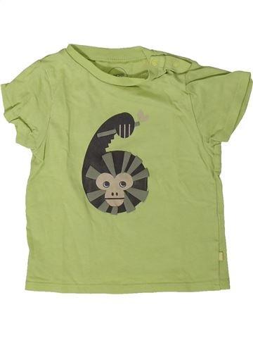 Camiseta de manga corta niño OKAIDI verde 12 meses verano #1401455_1