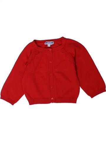 Gilet fille JACADI rouge 12 mois hiver #1401605_1
