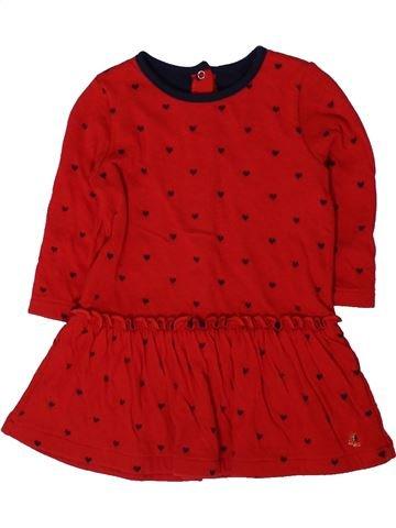 Vestido niña PETIT BATEAU rojo 12 meses invierno #1401614_1