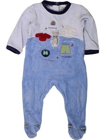 Pyjama 1 pièce garçon ABSORBA bleu 12 mois hiver #1401618_1