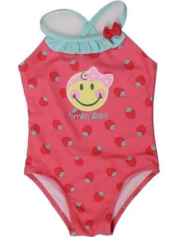 Maillot de bain fille SMILEY rose 12 mois été #1401635_1