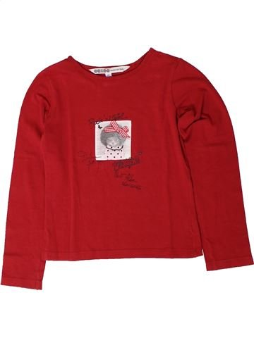 T-shirt manches longues fille OOXOO rouge 8 ans hiver #1401643_1
