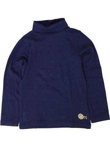 T-shirt col roulé fille ORCHESTRA bleu 5 ans hiver #1401658_1