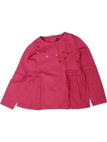 T-shirt manches longues fille SERGENT MAJOR rose 7 ans hiver #1401677_1