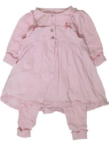 Combinación larga niña JEAN BOURGET rosa 3 meses invierno #1401678_1