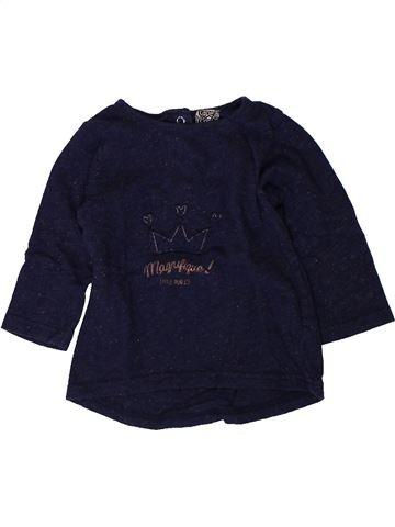 T-shirt manches longues fille TAPE À L'OEIL noir 9 mois hiver #1401731_1