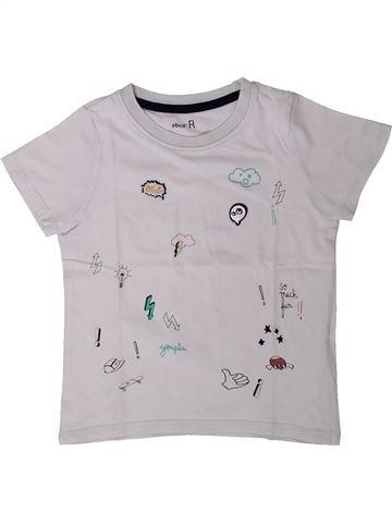 Camiseta de manga corta niño LA REDOUTE CRÉATION gris 4 años verano #1401764_1
