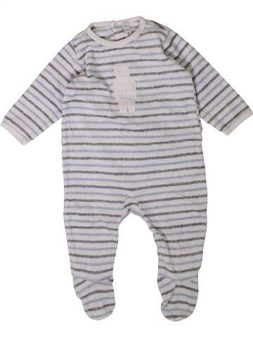 Pyjama 1 pièce garçon BOUT'CHOU gris 3 mois hiver #1401788_1