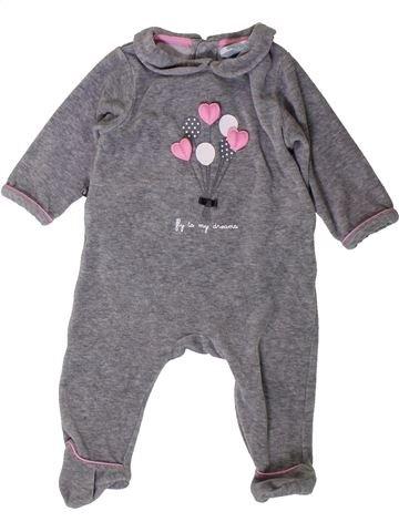 Pyjama 1 pièce fille OKAIDI violet 6 mois hiver #1401803_1
