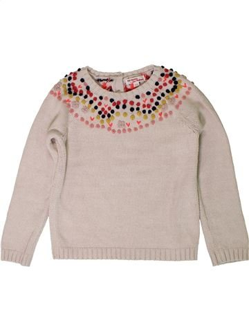 Pull fille DPAM beige 6 ans hiver #1401834_1