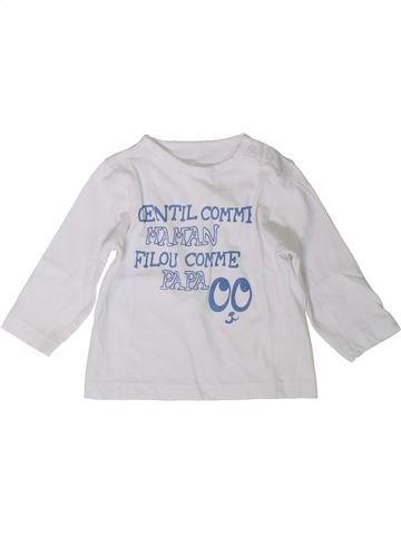 T-shirt manches longues garçon KIABI blanc 6 mois hiver #1401872_1