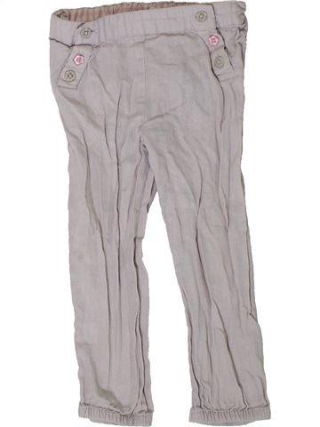 Pantalon fille GEMO gris 2 ans été #1401908_1