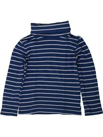 T-shirt col roulé garçon OKAIDI bleu 4 ans hiver #1401950_1