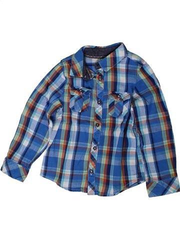 Chemise manches longues garçon ORCHESTRA bleu 3 ans hiver #1401956_1