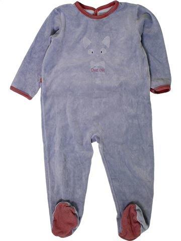 Pijama de 1 pieza niño PETIT BATEAU gris 2 años invierno #1402018_1