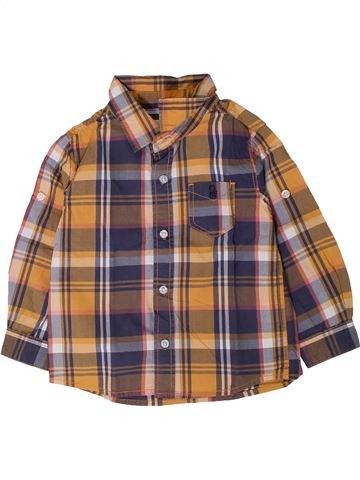 Chemise manches longues garçon OKAIDI violet 2 ans hiver #1402020_1
