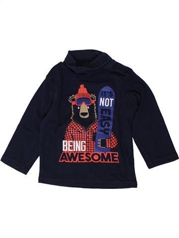 T-shirt col roulé garçon KIABI noir 2 ans hiver #1402040_1