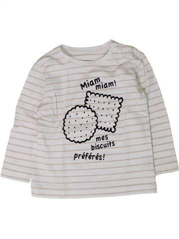 Camiseta de manga larga niño BOUT'CHOU blanco 18 meses invierno #1402044_1