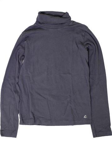 T-shirt col roulé garçon PETIT BATEAU bleu 12 ans hiver #1402047_1