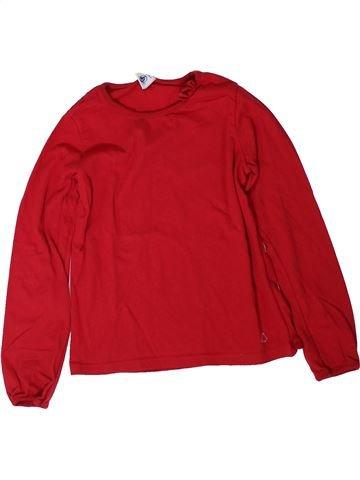 T-shirt manches longues fille PETIT BATEAU rouge 8 ans hiver #1402057_1