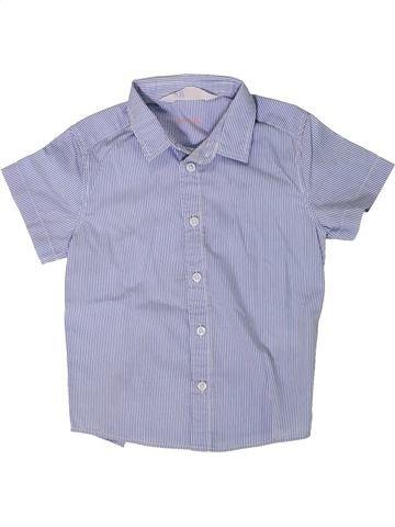 Chemise manches courtes garçon H&M bleu 3 ans été #1402076_1