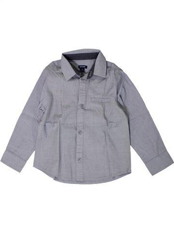 Chemise manches longues garçon KIABI gris 4 ans hiver #1402083_1