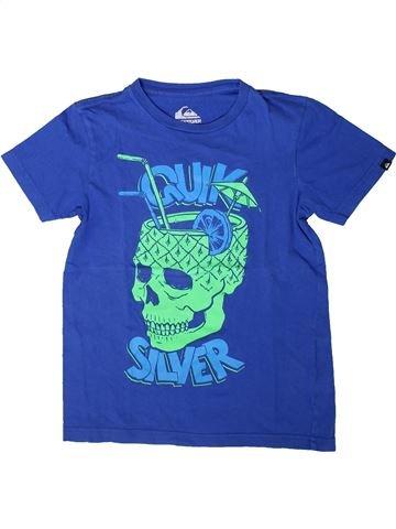 T-shirt manches courtes garçon QUIKSILVER bleu 8 ans été #1402113_1