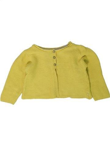 Gilet fille OKAIDI jaune 18 mois hiver #1402123_1