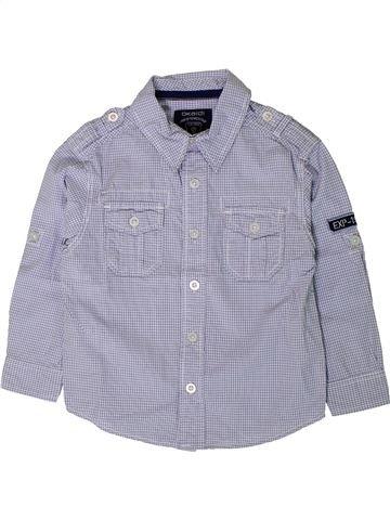Camisa de manga larga niño OKAIDI azul 3 años invierno #1402134_1