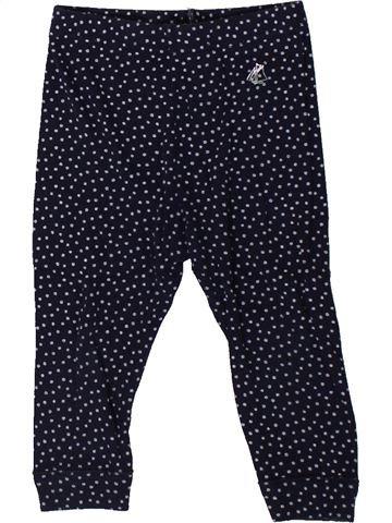 Legging niña PETIT BATEAU negro 12 meses invierno #1402283_1