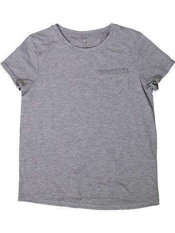 T-shirt manches courtes fille GEORGE gris 10 ans été #1402339_1