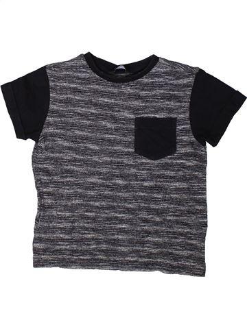 T-shirt manches courtes garçon GEORGE gris 6 ans été #1402365_1
