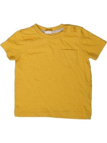 Camiseta de manga corta niño F&F amarillo 12 meses verano #1402381_1