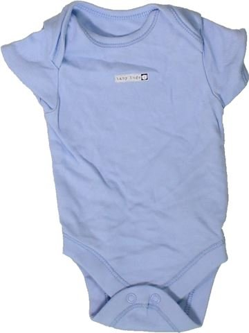 T-shirt manches courtes garçon GEORGE bleu 1 mois été #1402388_1