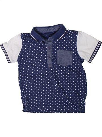 Polo manches courtes garçon MATALAN bleu 18 mois été #1402489_1