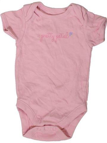 Camiseta de manga corta niña GEORGE rosa 6 meses verano #1402525_1