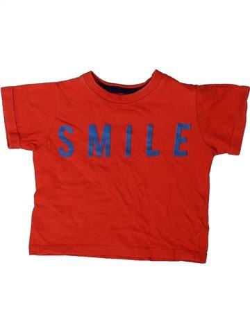 T-shirt manches courtes garçon MARKS & SPENCER rouge 9 mois été #1402535_1