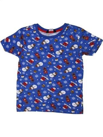 T-shirt manches courtes garçon GEORGE bleu 3 ans été #1402648_1