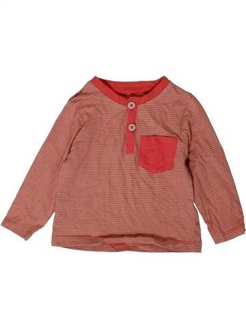 T-shirt manches longues garçon TU rouge 6 mois hiver #1402733_1
