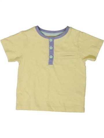 T-shirt manches courtes garçon TU beige 9 mois été #1402736_1