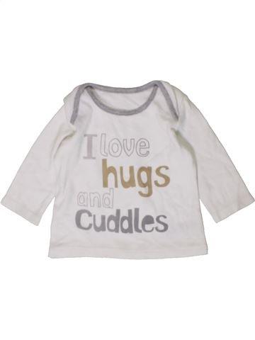 Camiseta de manga larga niño GEORGE blanco 3 meses invierno #1402811_1