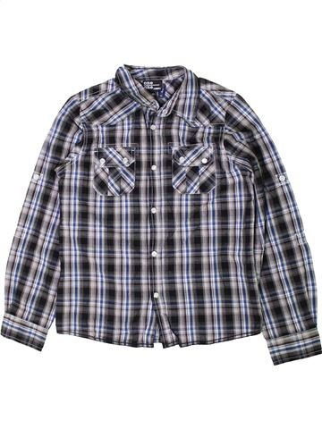 Chemise manches longues garçon ONE BY ONE gris 10 ans hiver #1403014_1