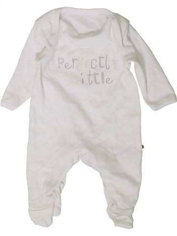 Pyjama 1 pièce unisexe GEORGE blanc naissance été #1403036_1