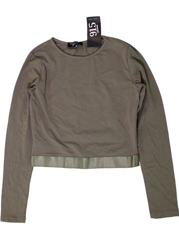T-shirt manches longues fille NEW LOOK marron 13 ans hiver #1403038_1