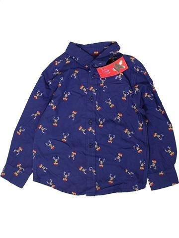 Chemise manches longues garçon F&F violet 4 ans hiver #1403103_1