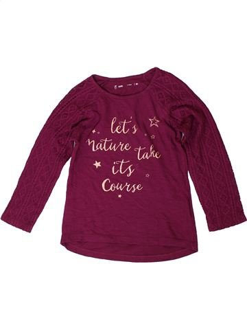 T-shirt manches longues fille GEMO violet 8 ans hiver #1403119_1
