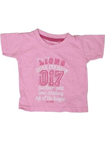 Camiseta de manga corta niña PRIMARK rosa 12 meses verano #1403410_1