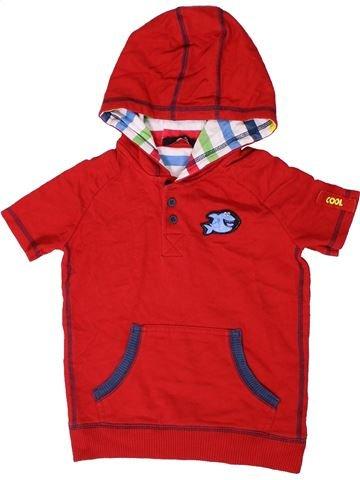 Polo manches courtes garçon GEORGE rouge 4 ans été #1403416_1