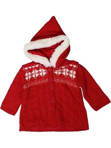 Gilet fille GEORGE rouge 6 mois hiver #1403441_1