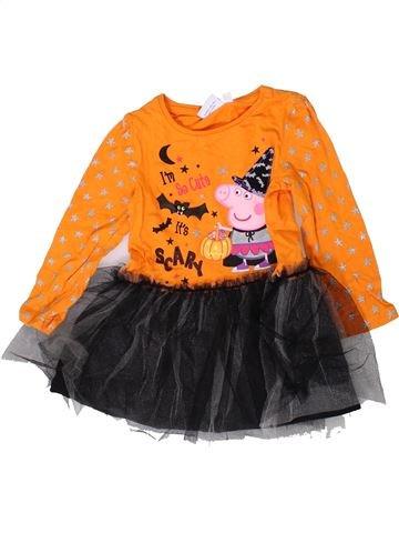 Robe fille PEPPA PIG orange 2 ans hiver #1403553_1